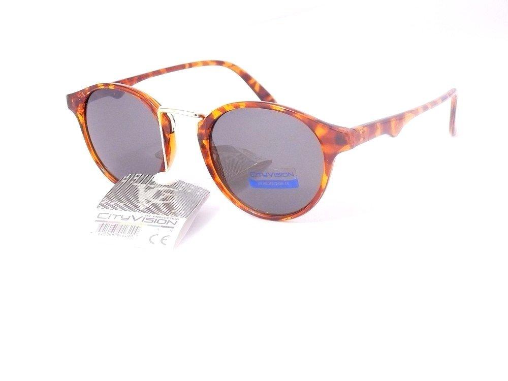 lunettes de soleil rondes verres ronds mixte homme femme 023900 (monture écaille verres vert , largeur:135mm hauteur:45mm)