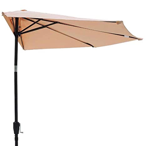 Amazon Com 10 Foot Patio Half Umbrella Sun Shade 5 Rib Tilt Avid