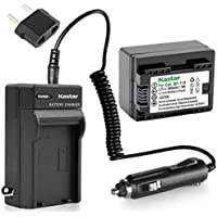 Kastar Battery BP-718F Decoded 1 Pack + Charger for Canon BP-718 & VIXIA HF M50, HF M52, HF M500, HF R30, HF R32, HF R40, HF R42, HF R50, HF R52, HF R60, HF R62, HF R300, HF R400, HF R500, HF R600