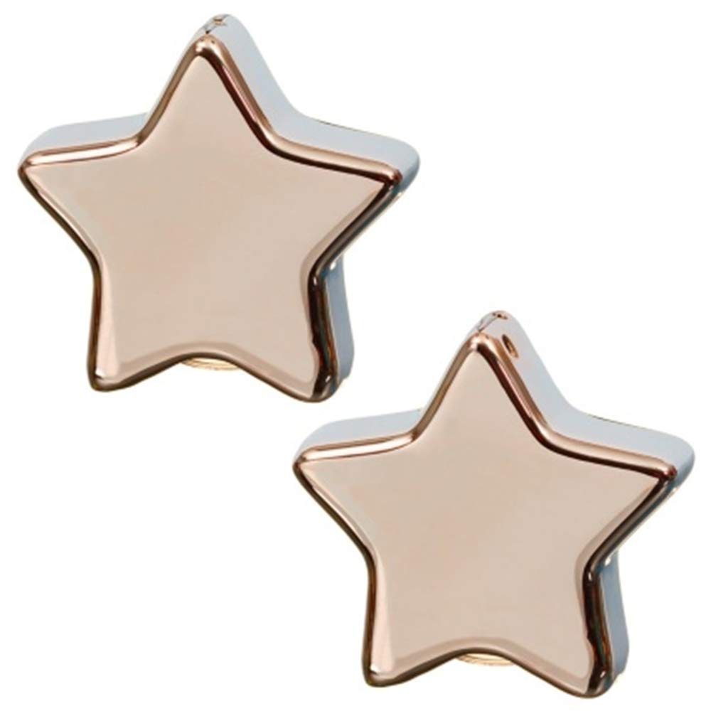 Fabulous Refillable Star Salt & Pepper Set Perfect for Sitting on Your Dining Table - Rose Gold scotrade