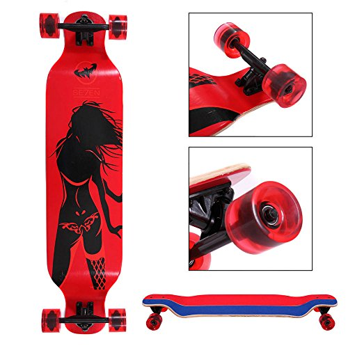 Longboard Complete 41 x 9.5in. Cruiser Speed skateboard Downhill Canadian Maple from Unknown