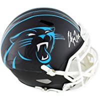 $399 » Christian McCaffrey Autographed/Signed Carolina Panthers Speed Full Size Black NFL Helmet