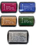 Set of 5 DOVECRAFT PIGMENT INK PADS Rubber stamping MODERN CHRISTMAS Colours