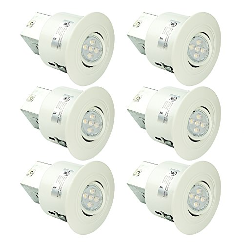 SGL 4-Inch LED Recessed Lighting Kit, 6x GU10 Dimmable 6w LED Bulbs Included, 2700K Warm White,Swivel, 6-Pack (4 Inch Led Trim Kit compare prices)