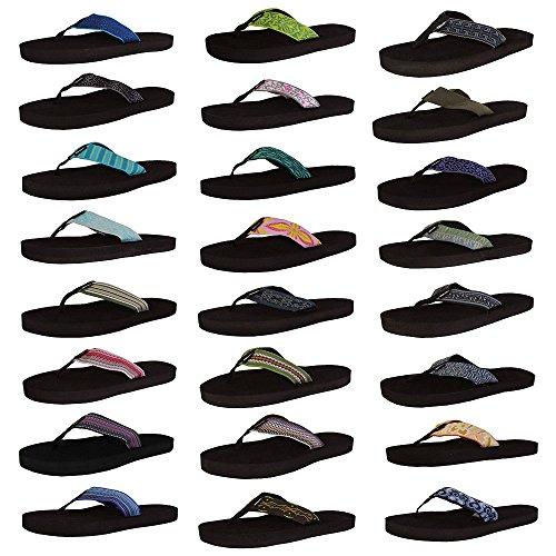 Teva Womens Mush II Webbing Thong Flip Flop Sandals
