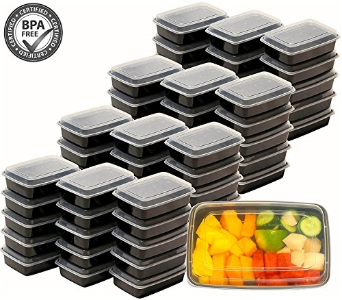 50 Pack SimpleHouseware Compartment Container