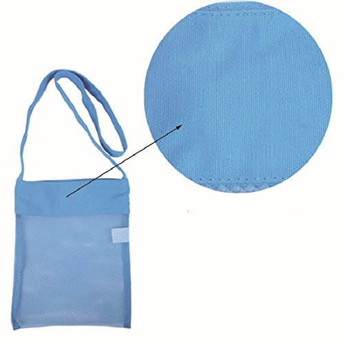 22cm Children's Shoulder Beach WDOIT Retractable Picking Bag Bag Blue Bag Travel WnIPrxn