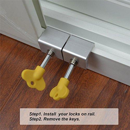 LiPing Adjustable Sliding Window Locks Stop Aluminum Alloy Door Frame Security Lock (8PCS) by LiPing