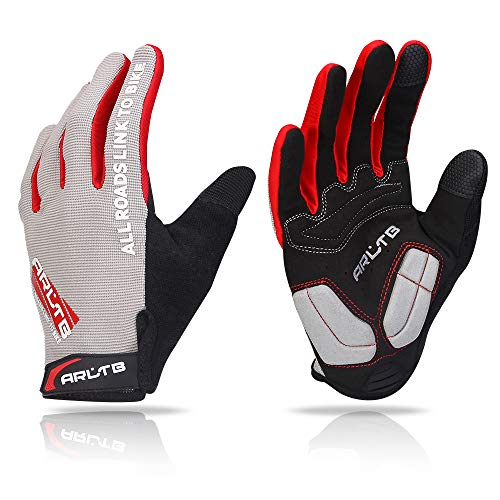 Arltb Winter Bike Gloves 3 Size 3 Colors Bicycle Cycling Biking Gloves Mitts Full Finger Pad Breathable Lightweight for Bike Riding Mountain Bike Motorcycle Free Cycle BMX Lifting Fitness - Full Fingered Cycling Gloves