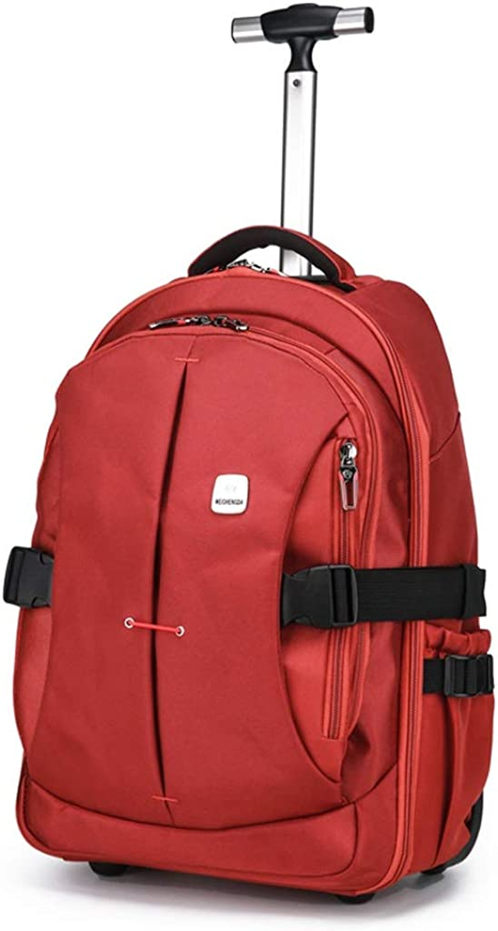 Color : Orange, Size : 21inch Suitable For Student Office Workers Outdoor Activities Large-capacity Waterproof And Wear-resistant Laptop Bag Backpacks With Wheels