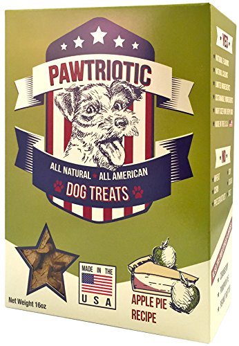 PAWTRIOTIC All Natural All American Dog Treats (1 Pack), Apple Pie