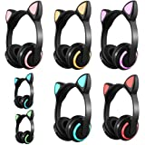 Easytoy Cat Ear Colorful Illuminated Stereo Headset Bluetooth Headset