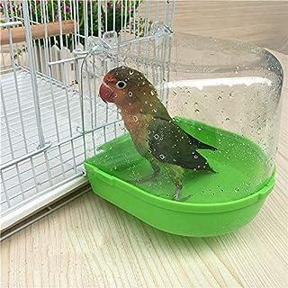 Bird Bath for Cage, Parrot Bird Bath, Hanging Bath for Bird Pet Birds Cage Hanging Accessory Bowl Birdbath Pet Birds Cage Hanging Bathtub Small Bird Water Bath Tub