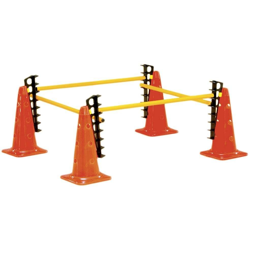 Power Systems Cone Hurdle Set, Crossbar Height Adjusts from 4-26 Inches, 4-Pack Hurdles (30600)