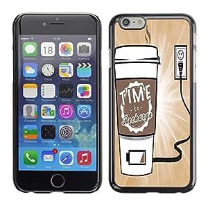 Dragon Case - FOR iPhone 6 - Time to charging - Caja protectora de pl??stico duro de la cubierta Dise?¡Ào Slim Fit