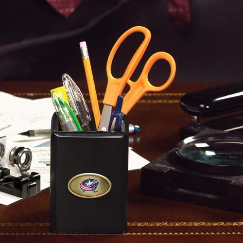 The Memory Company NHL Columbus Blue Jackets Official Black Pencil Holder, Multicolor, One Size by The Memory Company
