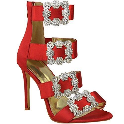 Spillo Scarpe Donna Gb A Diamante Cinturino Heelberry Rosso Sandali Thirsty Satin Alti Fashion Raso Numero Tacchi qIwP1IEF