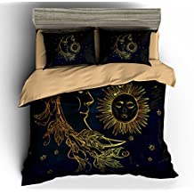 BOMCOM 3d bedding set HOBO sun and moon bedding print twin full queen king Bohemian bedclothes duvet cover set bedlinen (TWIN, MOON & SUN)