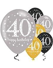 amscan 9900739 21-Inch Celebration 40th Latex Balloons