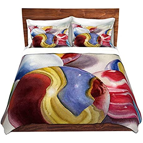 Duvet Cover Brushed Twill Twin Queen King SETs DiaNoche Designs Anne Gifford Moms Marble Shooter