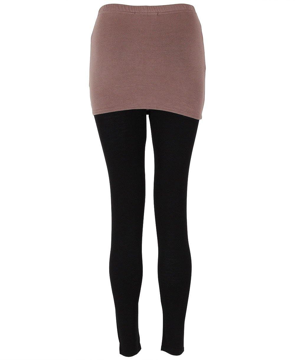KRISP® Mujeres Legging Falda 2 en 1 Yoga Moca Medium: Amazon ...