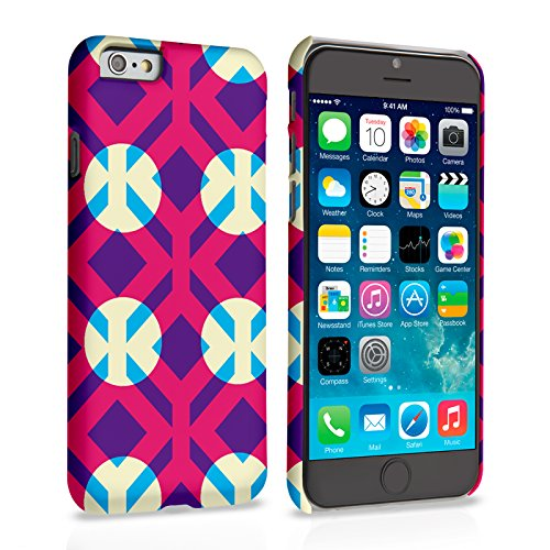 Caseflex iPhone 6 Plus / 6S Plus Hülle Rosa / Lila Quadrate Und Kreise Muster Hart Schutzhülle (Kompatibel Mit iPhone 6 Plus / 6S Plus - 5.5 Zoll)