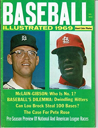 Baseball Illustrated 1969 Bob Gibson/ Denny Mclain .