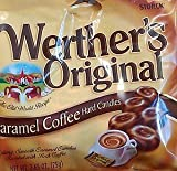 PACK OF 6 (SIX) coffee WERTHERS ORIGINAL CARAMEL COFFEE HARD CANDIES BY STORCK, MADE IN GERMANY YOU WILL RECEIVE 6 BAGS OF 2.65 OZ. (75g)