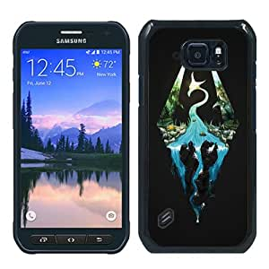Popular Samsung Galaxy S6 Active Case ,Fashionable And Unique Designed Case With skyrim Black Samsung Galaxy S6 Active Cover High Quality Phone Case