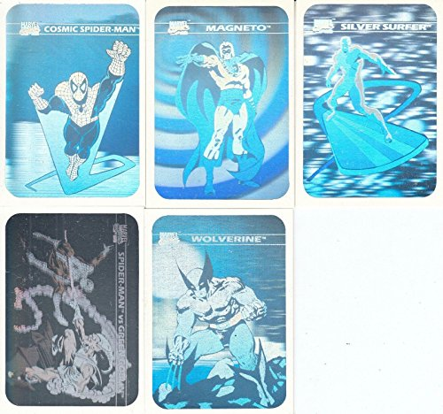 (MARVEL UNIVERSE 1990 IMPEL COMPLETE HOLOGRAM INSERT CHASE CARD SET MH1 TO MH5)