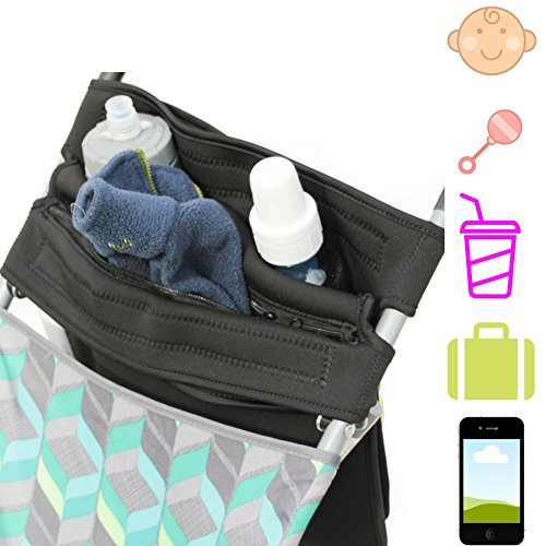 Mom's Favorite Stroller Organizer with cup holders | Stroller handlebar console | Baby Stroller Accessories | Stroller cup holder from Mom's Favorite