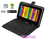 "Tagital 9"" Android 4.4 A23 Dual Core Tablet PC Dual Camera Bundled with Keyboard"