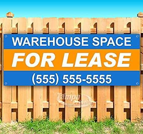 WAREHOUSE SPACE FOR LEASE CUSTOMIZE PHONE Advertising Vinyl Banner Flag Sign USA