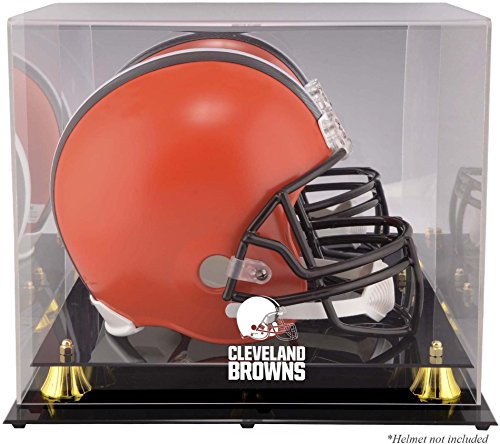 Brown Helmet Case (Cleveland Browns Golden Classic Helmet Display Case and Mirror Back)