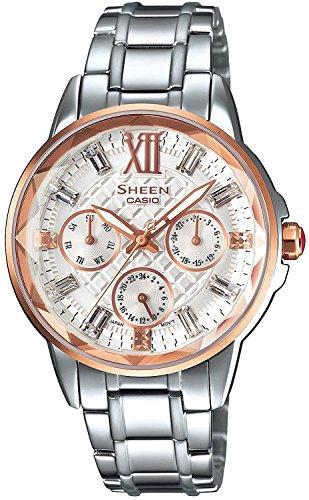 CASIO watch SHEEN Swarovski Crystal index domestic manufacturers warranty SHE-3029SGJ-7AJF ladies with one year