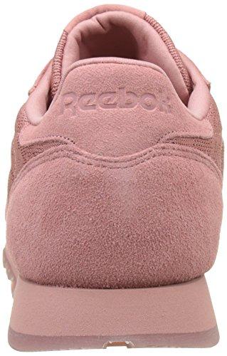 Reebok Damen Dentelle Cuir Classique Baskets Rose (sable Gris Rose / Blanc)