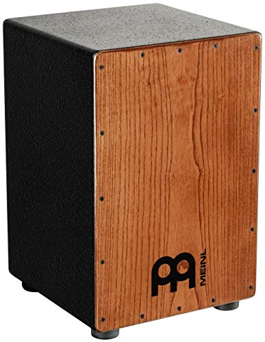 Meinl Percussion Cajon with Internal Metal Strings for Adjustable Snare Effect - NOT MADE IN CHINA - American White Ash with MDF Body, 2-YEAR WARRANTY, HCAJ1AWA)