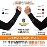 ARMORAY Arm Sleeves for Men or Women Basketball
