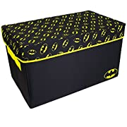 Batman Collapsible KidsToy Storage Chest byDC Comics- Flip-Top Toy Organizer Bin for Closets, Kids Bedroom, Boys & Girls Toys - Foldable Toy Basket Organizer with Strong Handles & Design