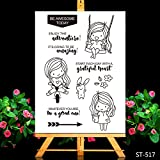 Happy Little Girl Clear Stamps for DIY Scrapbooking Photo Album Decoration Card Making Supplies