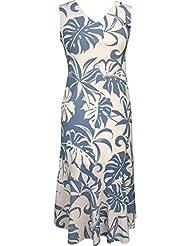 RJC Womens Beachside Breeze Tea Length Sleeveless Hawaiian Dress