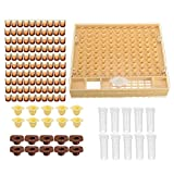 Complete Queen Rearing Cell Cup kit Catcher Box Hair Roll Cage Bee Keeper Equipment Cupkit Set Beekeeping Kit