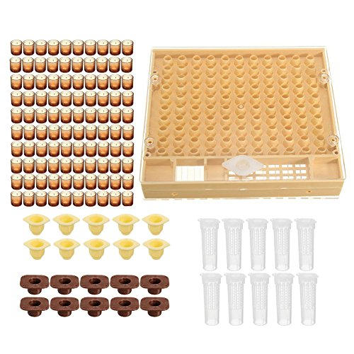 Beekeeping Complete Queen Rearing Kit, Complete Catcher Cage Apiculture Helper with Cell Cup/Queen Protective Cover/Comb Box
