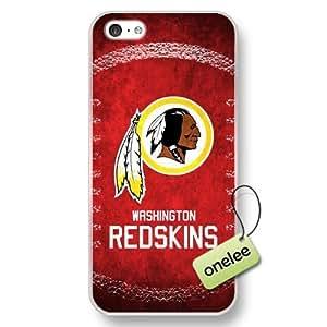 NFL Washington Redskins Team Logo Case For HTC One M7 Cover Transparent Hard Plastic Case CovTransparent
