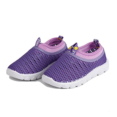 CIOR Kids Aqua Shoes Breathable Slip-On Sneakers For Running Pool Beach Toddler/Little Kid/Big Kid,1106purple,23 1