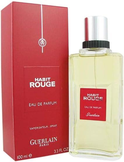 Guerlain Habit Rouge Eau De Parfum Spray For Men 3 3 Ounce Amazon Ca Beauty