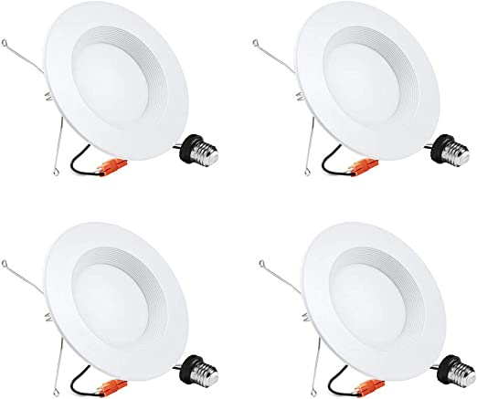 5 6 Inch Led Can Lights 4 Pack Led Recessed Lights Dimmable Retrofit Led Recessed Lighting Fixture Led Downlight 15w 5000k Daylight White Energy Star Etl 5000k Daylight White 4 Pack Amazon Com