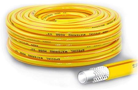 Manguera para Jardin, Manguera Tubo De Riego El Hogar TuberíA De PVC TuberíA PláStico IrrigacióN Goma, Industrial Parque Limpieza AutomóViles,Amarillo,10m-50m(33ft-164Pies),12mm(1/2 Pulgadas): Amazon.es: Hogar