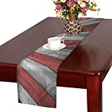 D-Story Wood Stripes Cotton Linen Cloth Table Runner 16x72 inch For Office Kitchen Wedding Dinner Parties Events Home Decor