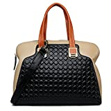 ZOOLER Genuine Leather Handbags for Women Slim Shoulder Bags Black Purse